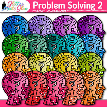 Problem Solving Clip Art 2 - Growth Mindset - Critical Thi