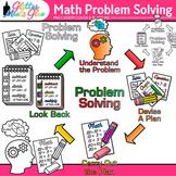 4-Step Math Problem Solving Clip Art: Math Graphics 1 {Glitter Meets Glue}