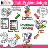 4-Step Math Problem Solving Clip Art: Math Graphics 1 {Glitter Meets Glue}