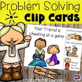 Problem Solving Clip Cards:  Conflict Management Elementary School Counseling