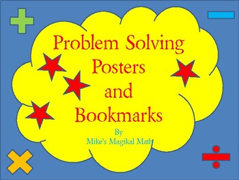 Problem Solving Clue Words Posters