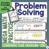 Digital Problem Solving Google Slides™ Combining Sum Unkno