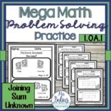 Problem Solving Combining Sum Unknown Mega Math Practice 1.OA.1
