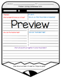 Problem Solving Conference Form (Student to Teacher)