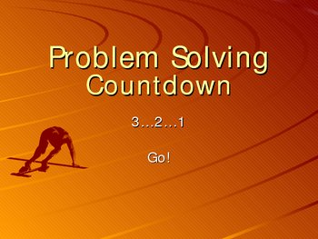 Problem Solving Countdown!