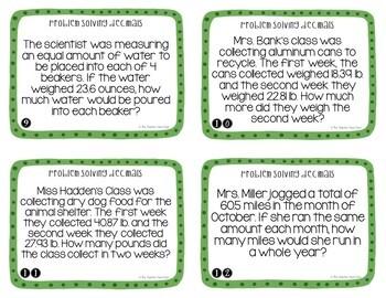 Problem Solving Decimals Task Cards (Word Problems) for 5th Grade