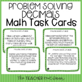 5th Grade Problem Solving Decimals Task Cards | Decimals W