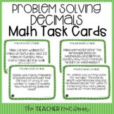 5th Grade Problem Solving Decimals Task Cards | Decimals W