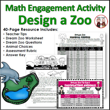 End of Year Design a Zoo Math Activity