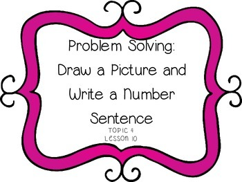 Problem Solving: Draw Picture & Number Sentence - First Grade enVision Math