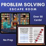 Problem Solving Escape Room -- No Prep Boom Cards