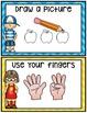 Kindergarten Math Journals: April Story Problems