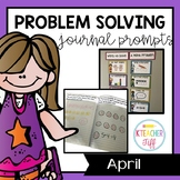 Kindergarten Math Journals: April Story Problems