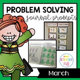 Kindergarten Math Journals: March Story Problems