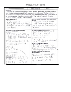Problem Solving Exemplar for Math 3rd -4th