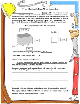 Problem Solving Exercise for Metric Conversion