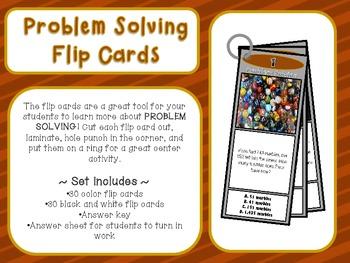 Problem Solving Flip Cards