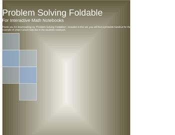 Problem Solving Foldable