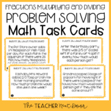 5th Grade Fraction Multiplication and Division Problem Solving Task Cards
