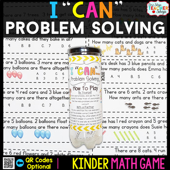 Kindergarten Math Game for Problem Solving - Kindergarten