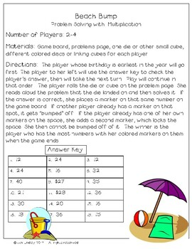 Problem Solving Game with Basic Multiplication
