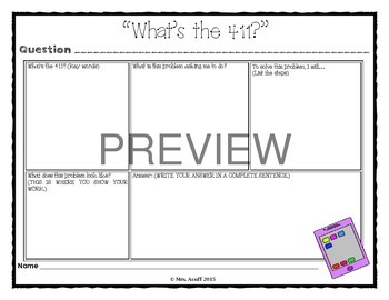 Problem-Solving Graphic Organizer
