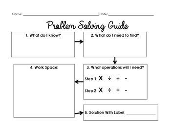 Problem Solving Graphic Organizer