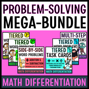 Word Problem Solving Bundle for Math Differentiation