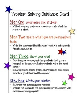 Problem Solving Guidance Cards
