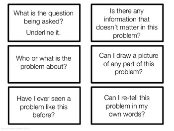 Problem Solving Helping Cards: Question Cards to Help and Promote Deep Thinking