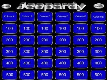 Problem Solving Jeopardy