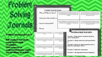 Problem Solving Journals