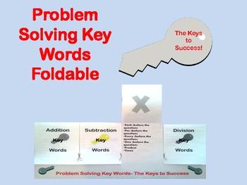 Problem Solving Key Words Foldable