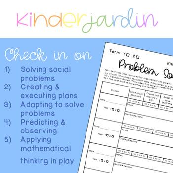 Problem Solving Kindergarten Checklist