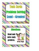 Problem Solving:  Least and Greatest to 120 - Task Cards