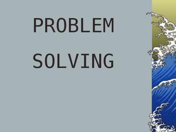 Problem Solving Lecture