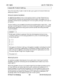 Problem Solving (Lesson 30 of 61)