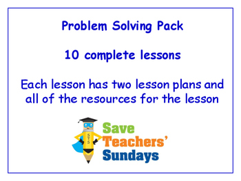 Problem Solving Lessons Bundle / Pack (10 Lessons for 1st to 2nd grade)