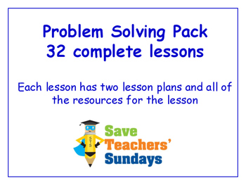 Problem Solving Lessons Bundle/Pack (32 Lessons for 2nd to 4th grade)