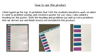 Problem Solving Lesson and Poster