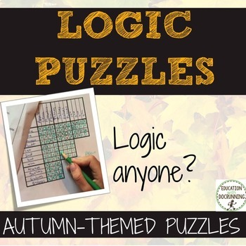 Logic Puzzles for Autumn including Halloween and Thanksgiving puzzles