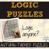 Halloween Math Logic Puzzles and more for Autumn includes Thanksgiving puzzle