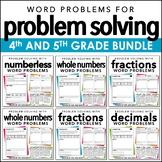 Problem Solving MEGA BUNDLE for 4th and 5th Grade