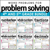 Problem Solving MEGA BUNDLE for 4th and 5th Grade | Distan
