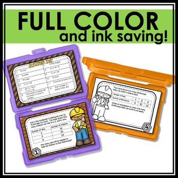 Problem Solving - Make A Table {Task Cards}
