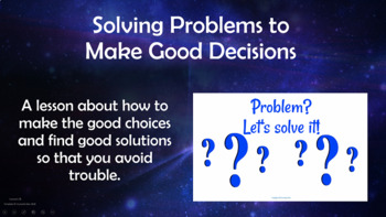 Problem-Solving Making Decisions Choices No Prep w 2 Video & Worksheets PBIS