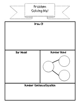 Problem Solving Mat FREEBIE