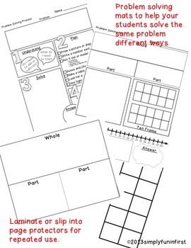 Problem Solving Math Mats and Resources for K-2