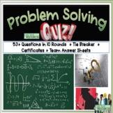 Problem Solving Math Quiz