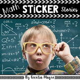 Problem Solving Math Task Card Sticker Stories #1